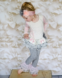 "Giggle Moon Pink & Gray *Graced"" Two Piece Swing Set"
