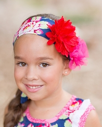 """Giggle Moon """"Pure In Heart"""" Blue Floral Headwrap """"PREORDER"""""""