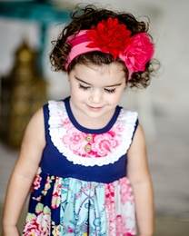 """Giggle Moon """"Pure In Heart"""" Pink Stripe Knit Headband """"PREORDER"""""""