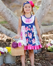 """Giggle Moon """"Pure In Heart"""" Pixie Panel Floral Spring Dress """"PREORDER"""""""