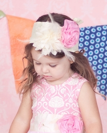 "Giggle Moon ""Simply Beautiful""  Cream Head Wrap *PREORDER*<br>Size Toddler"