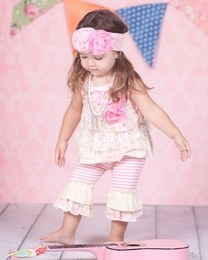 "Giggle Moon ""Simply Beautiful"" Top & Crops Two Piece Swing Set<br>Sizes 2T - 6X"