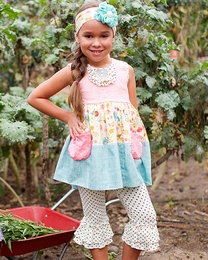 "Giggle Moon ""Singing Praises"" Super Sweet Chloe Two Piece Capri Legging Set SOLD OUT!"