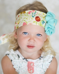 "Giggle Moon ""Singing Praises"" Sweet Floral Head Wrap"