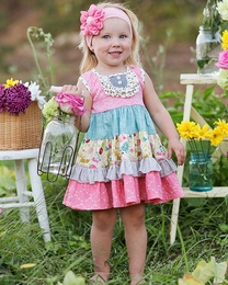 "Giggle Moon ""Singing Praises"" Tiered Classic Party Dress"
