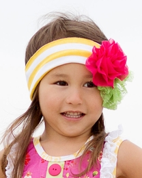 "Giggle Moon ""Sweet as Honey"" Soft Knit Headband *PREORDER*<br>Sizes Infant & Toddler"