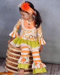 "Giggle Moon ""Thankful Hearts"" Fall Floral Two Piece Swing Set<br>*PREORDER*"