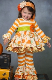 "Giggle Moon ""Thankful Hearts"" Maddison Two Piece Dress Set"
