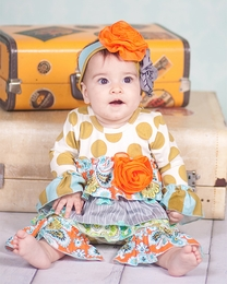 "Giggle Moon ""Treasured Possession"" Baby Dotted Longall<br>*PREORDER*"