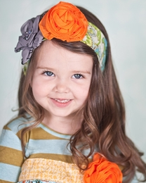 "Giggle Moon ""Treasured Possession"" Fancy Floral Head Wrap<br>*PREORDER*"