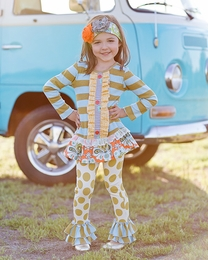 "Giggle Moon ""Treasured Possession"" Mabel Dress with Ruffle Pants<br>*PREORDER*"