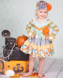 "Giggle Moon ""Treasured Possession"" Perfect Party Chevron Dress<br>*PREORDER*"