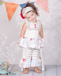 "Giggle Moon ""Wedding Bells"" White Two Piece Swing Set *PREORDER*<br>Sizes 3M-6X"