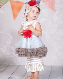 "Giggle Moon ""Wedding Bells"" Tutu Dress & Pant Two Piece Set<br>Sizes 12M-8"