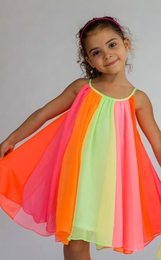 Halabaloo Adorable Twirling Rainbow Sun Dress<br>Sizes 5 - 7