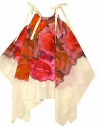 Halabaloo Beautiful Bunch O'Roses Hanky Hem Dress