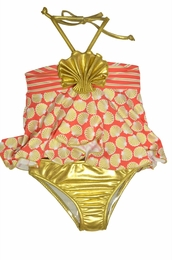 Love U Lots Gorgeous Gold & Coral Shell Tankini SOLD OUT!