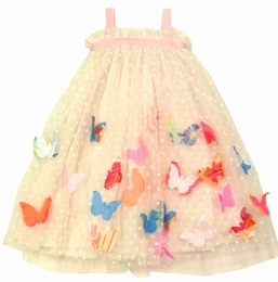 Halabaloo Precious Dot Dress with Butterfly Appliques *PREORDER*