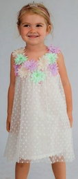 Halabaloo Garden Party Dot Flare Dress *PREORDER*<br>Sizes 2T - 10
