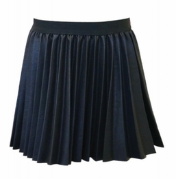 Hannah Banana Beautiful Day FAUX LEATHER Pleated Skirt