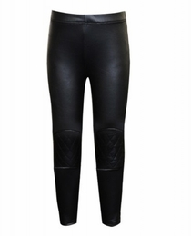 Hannah Banana Black Faux Leather Leggings