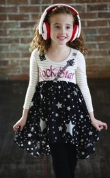 "Hannah Banana Black ""First Look"" Rock Star Dress *FINAL SALE*"
