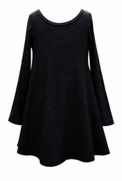 Hannah Banana Black Flare Tunic Dress