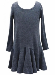 Hannah Banana Charcoal Dress w/Circular Hem Inserts
