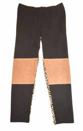 "Hannah Banana ""Chocolate Chips"" Faux Suede Leggings"