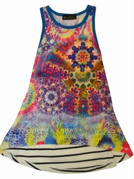 Hannah Banana Hi-Lo Printed Front Dress w/Amazing Back SOLD OUT!