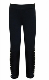 Hannah Banana Leggings with Faux Trimmed Leather Ankle *PREORDER*