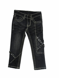 "Hannah Banana ""Moonstruck"" Dark Rinse Jeans with  Stitching *FINAL SALE*"