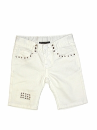 "Hannah Banana ""Must Have Trends"" White Studded Bermudas *FINAL SALE*"