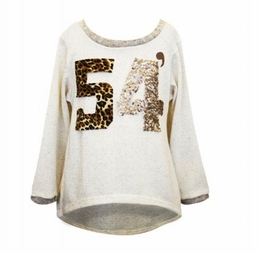 Hannah Banana Natural Back To School Sequin Tunic Top *FINAL SALE* SOLD OUT!
