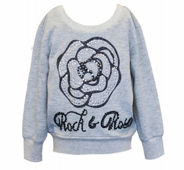 Hannah Banana Rock & Rose Beautiful Day Sweater Top