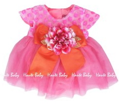 "Haute Baby ""April Bloom"" Stunning Spring Baby Dress w/Diaper Cover<br>Sizes 6/9m - 24m"