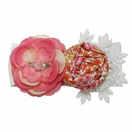 "Haute Baby ""April Showers"" Floral Headband"