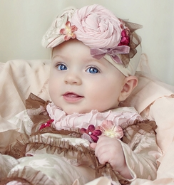 "Haute Baby ""C'est Chic"" Beautiful Rosette Stretch Headband *PREORDER*"