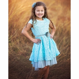 "Haute Baby ""Elsa's Magic"" Big Girl Dress *FINAL SALE*"