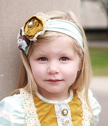 "Haute Baby ""Hannah Grace"" Soft Fall Headband *PREORDER*"