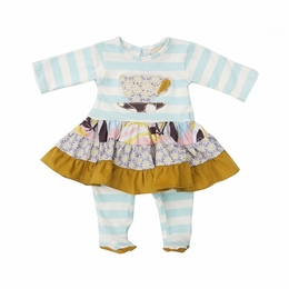 "Haute Baby ""Hannah Grace"" Super Sweet Skirted Footie *PREORDER*"