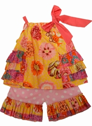 "Haute Baby ""Honey Child"" Floral Swing Set<br>Sizes 2T - 6"