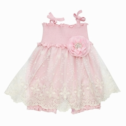 "Haute Baby ""Lacey Rose"" Ballet Pink Classic Bubble Dress"