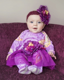 "Haute Baby ""Paisley Joy"" Perfect Plum Baby Footie *PREORDER*"