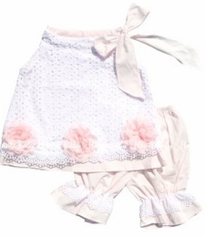 "Haute Baby Gorgeous White ""Innocence"" Swing Set<br>Sizes 12m - 4T"