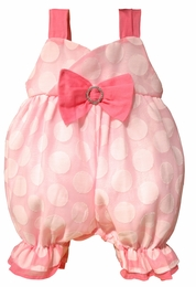 "Haute Baby ""Razzle Dazzle"" Pink Dotted Baby Bubble"