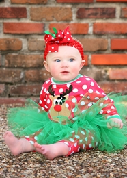 "Haute Baby ""Santa's Helper Girl"" Amazing Reindeer Holiday Tutu Set-Don't Wait Too Late!  *FINAL SALE*"