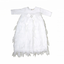 "Haute Baby ""Swan Lake"" White Infant Gown & Cap Two Piece Set *PREORDER*"