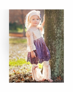 """Haute Baby """"Tessa Renee"""" Lace Plum Ombre Two Piece Tunic Set SOLD OUT!"""