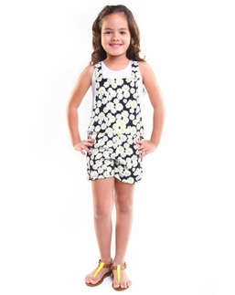 Haven Girl Flowery Alex Short Overalls & Tank Top TWO Piece Set *FINAL SALE* Size 6